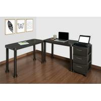 MQ Resin Multi-Desk Set with Rolling Storage Cart Deals