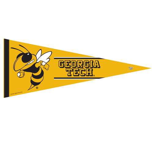 "Georgia Tech Yellow Jackets Premium Pennant - 12"" X 30"""