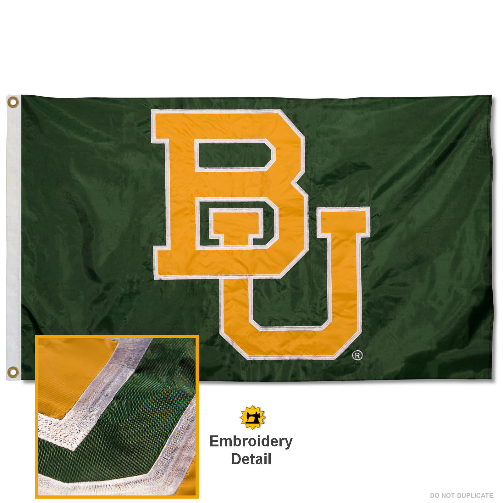 Baylor BU Bears 3' x 5' Nylon Embroidered Flag