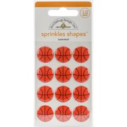 Doodlebug Sprinkles Adhesive Glossy Enamel Embellishments-Slam Dunk Basketballs