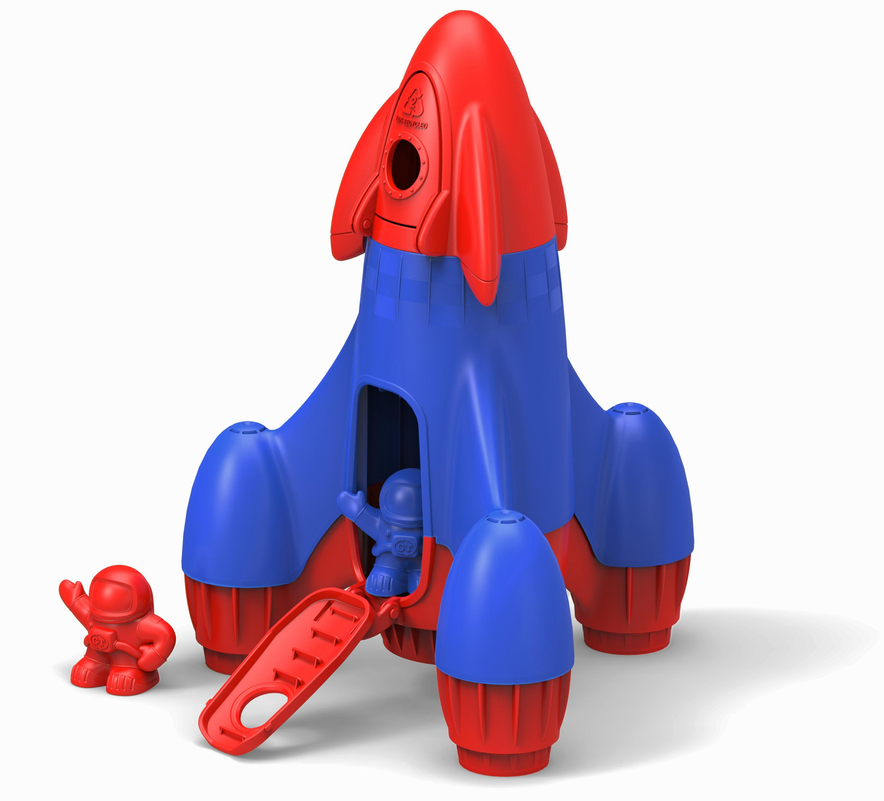 Green Toys Rocket - Red Top