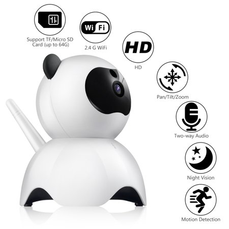Wireless 1080P Security Camera WiFi Pet Camera Baby Monitor with 2.4GHz, Two-Way Audio, Motion Detection, Pan 350°, Tilt