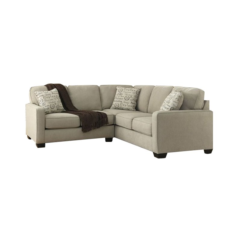 Ashley Furniture Sectional Fabric ashley furniture alenya 2 piece fabric sectional in quartz