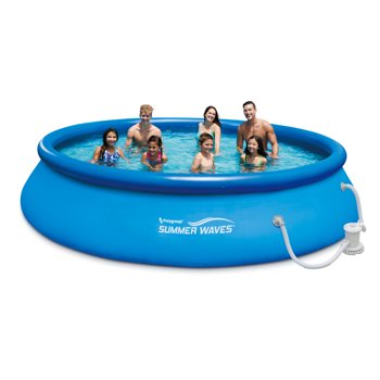 Summer Waves 15ft Quick Set Ring Pool with 600 GPH Filter Pump