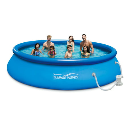 Summer Waves 15x36u0022 Quick Set Above Ground Swimming Pool