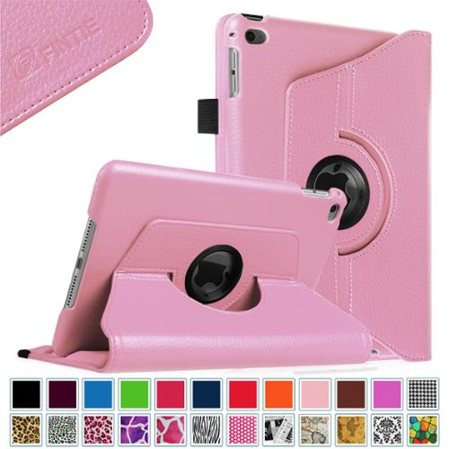 Fintie iPad mini 4 Case 2015 - 360 Degree Rotating Stand Cover with Auto Sleep / Wake, Pink