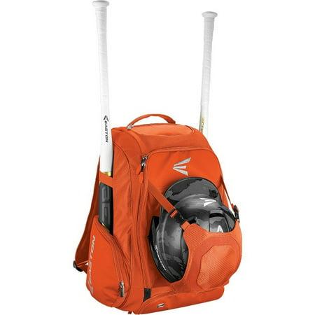 Easton Black Shoes - Easton Walk-Off IV Carrying Case Backpack for Bat Helmet Cleat Shoes Ball Orange