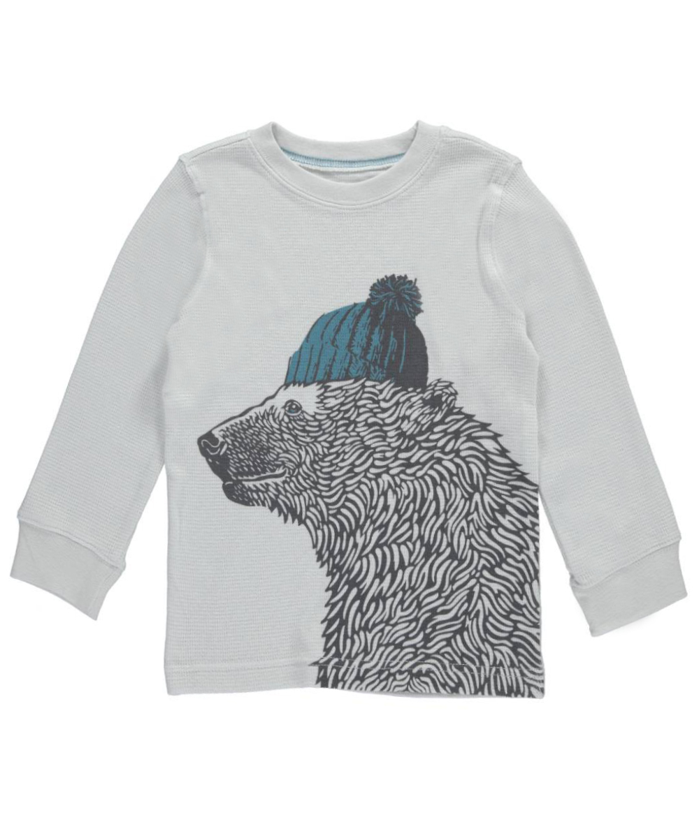 "Little Boys' ""Adventure Bear"" L/S Shirt (Sizes 4 - 7)"