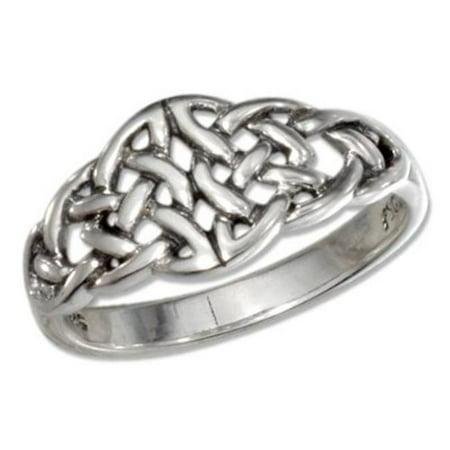 SR-2881-07 Sterling Silver Open Double Celtic Knots Ring - Size 7 - image 1 de 1
