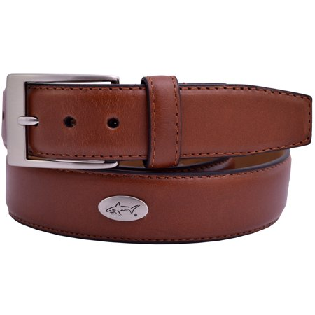Greg Norman Leather Concho Golf Belt - Tan - (Golf Concho Belts)
