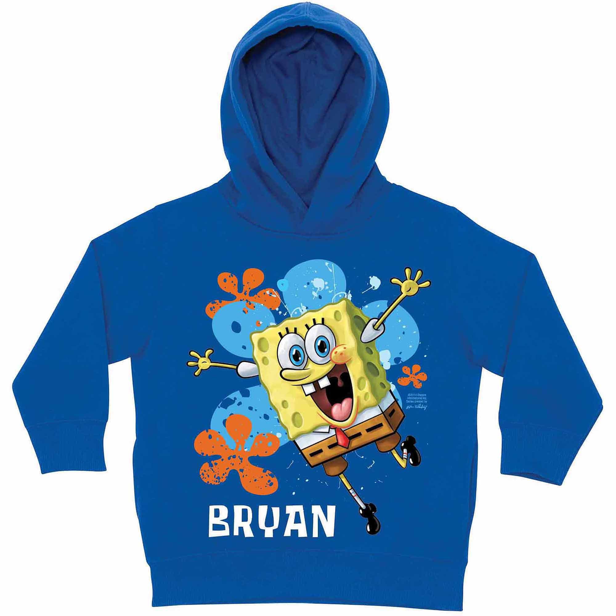 Personalized SpongeBob SquarePants Jump Little Boys' Royal Blue Hoodie