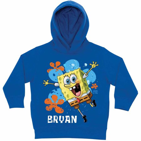 Personalized SpongeBob SquarePants Jump Little Boys' Royal Blue Hoodie
