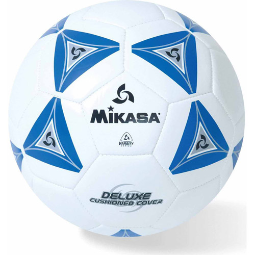 Mikasa Soft Soccer Ball, Size 3, Blue/White