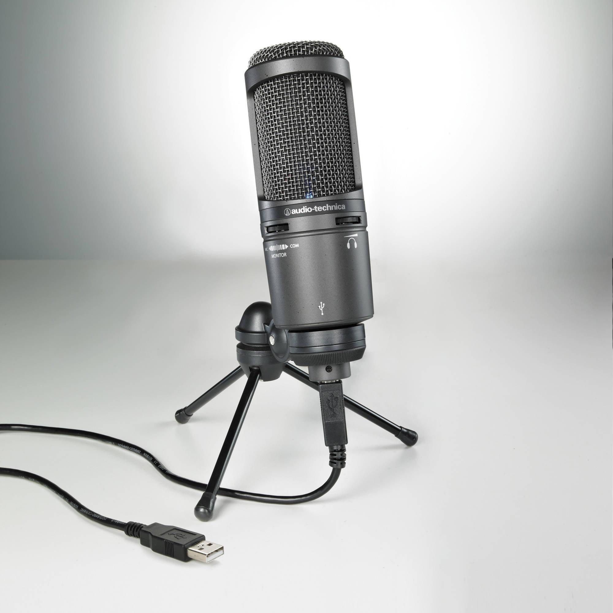 Audio Technica AT2020USB Plus Cardioid Large Diaphragm Condenser USB Mic by Audio-Technica