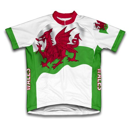 Wales Flag Short Sleeve Cycling Jersey  for Women - Size XS