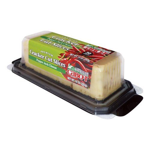 Cabot Premium Pepper Jack Cheese Cracker Cut Slices, 30 count, 10 oz