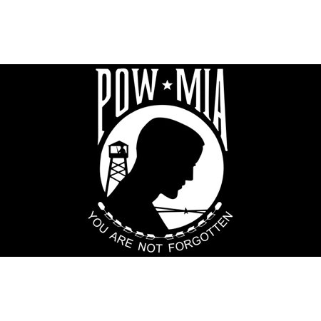 5in x 3in POW MIA Flag Sticker
