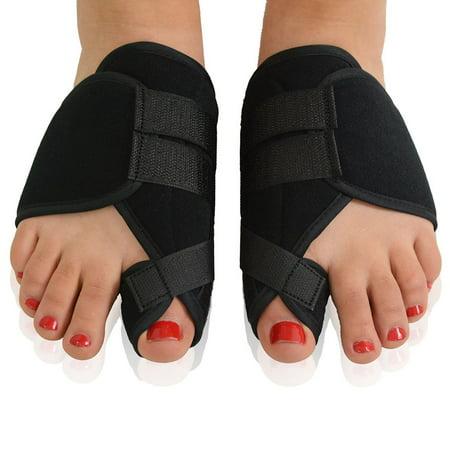 Pair Of Hallux Valgus Splints Bunion Corrector Toes Protector Pain Relief  Black