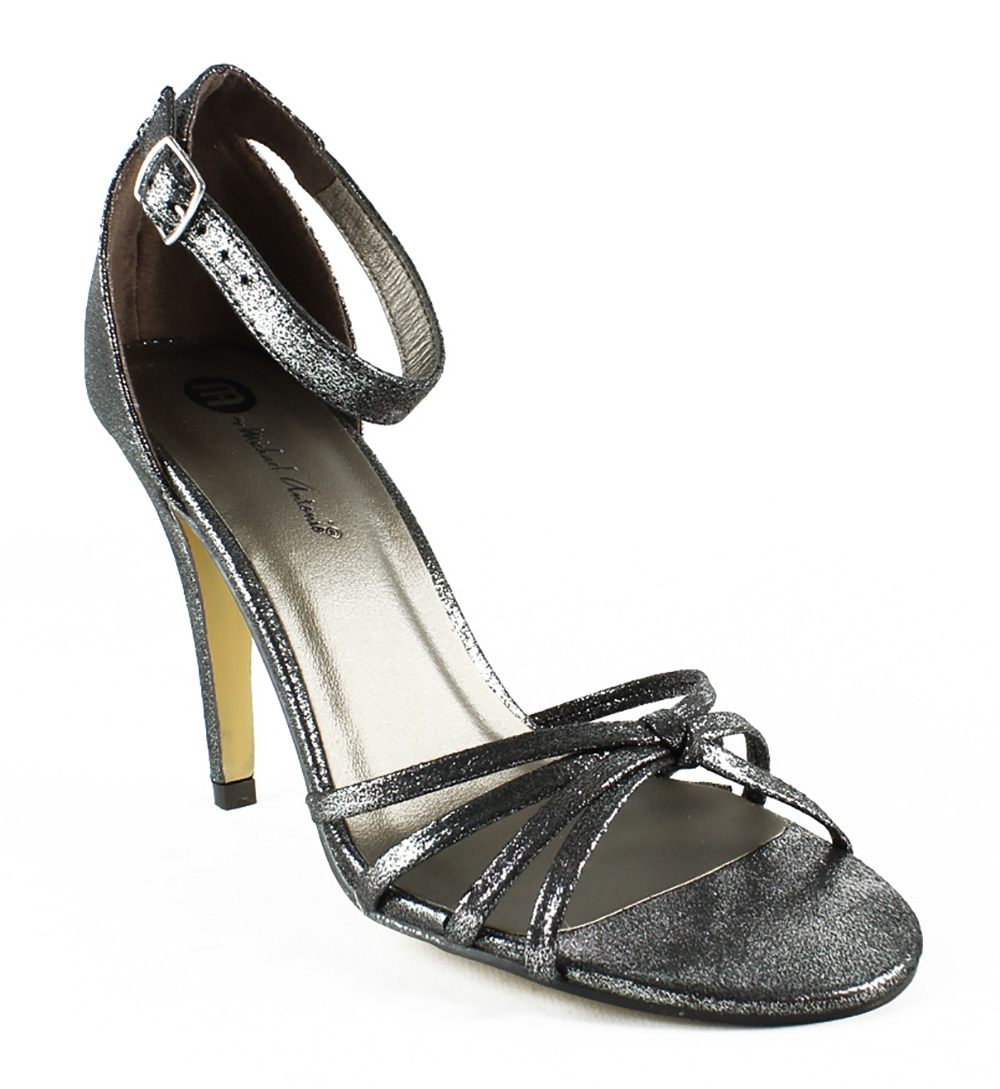 Michael Antonio Womens  Silver Ankle Strap Sandals Size 7 New