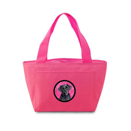 15 x 7 in. Labrador Zippered Insulated School Washable and Stylish Lunch Bag Cooler, Pink - image 1 de 1