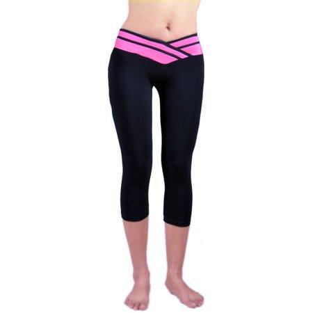 9e9abfeaa865 Sweetsmile - Sweetsmile Womens Cropped Yoga Fitness Leggings Running Gym  Stretch Sports Pants Trousers - Walmart.com