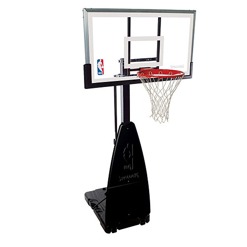 Spalding 68454 NBA Tempered Glass 54-Inch Screw Jack Portable Basketball System