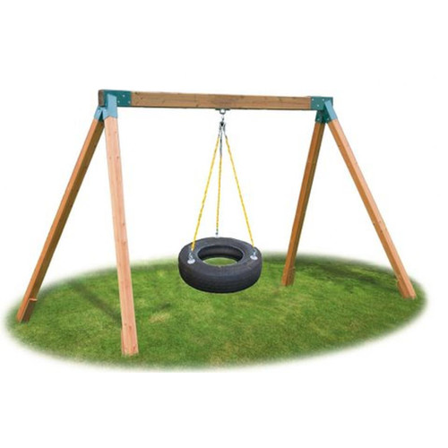 Eastern Jungle Gym Classic Cedar Tire Swing Set