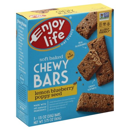 Enjoy Life Foods Gluten Free, Allergy Friendly Lemon Blueberry Poppy Seed Chewy Snack Bars, 1.15 oz, 5 ct - Allergy Friendly Halloween Snacks