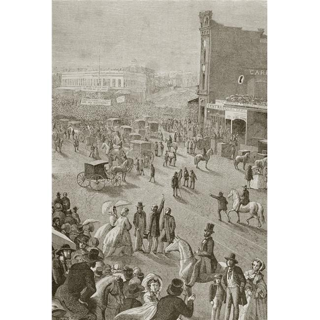 San Francisco California United States of America A Street Meeting In the 1850S Poster Print, 24 x 34 - image 1 of 1