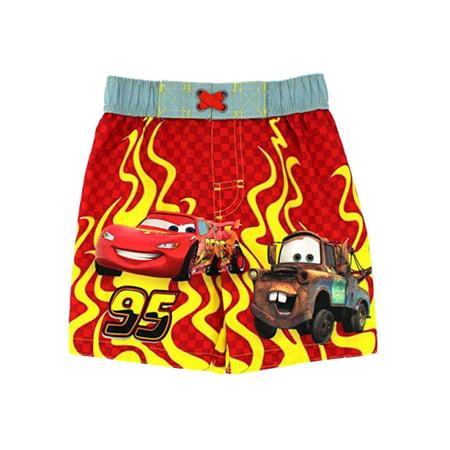 95e21fb1fb806 Disney - Disney Cars Toddler Boys Lightning McQueen & Mater Swim Trunks  Board Shorts - Walmart.com