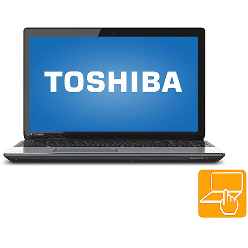 """Toshiba Ice Silver 15.6"""" Satellite S55t-A5360 Laptop PC with Intel Core i7-3630QM Processor, 8GB Memory, Touchscreen, 1TB Hard Drive and Windows 8"""