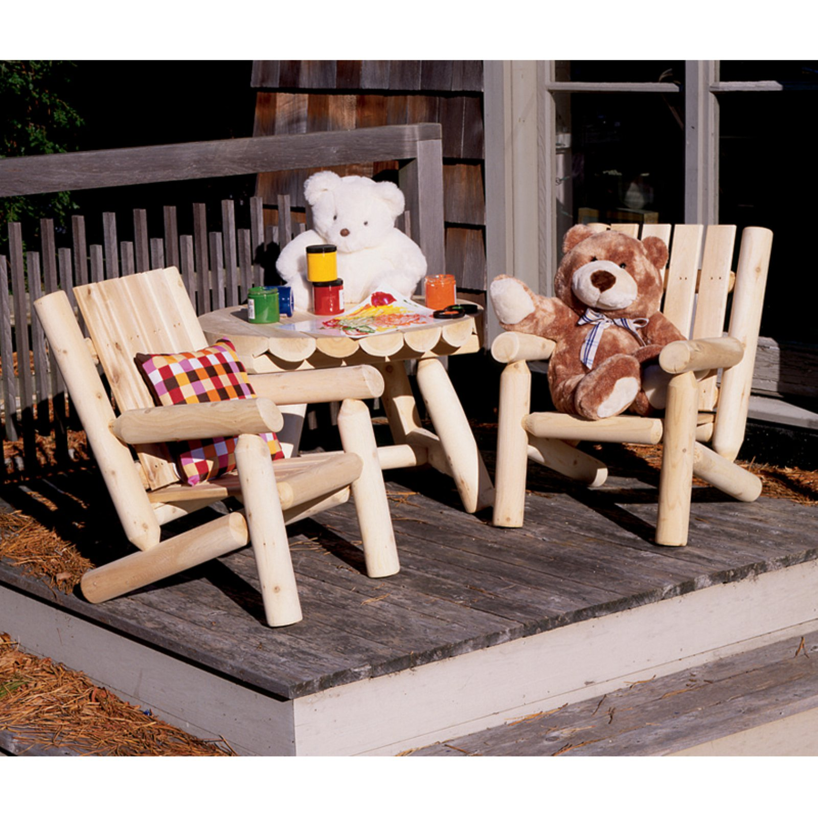 Rustic Natural Cedar Furniture Old Country Junior Log Chair