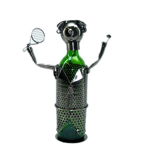 Wine Bodies Tennis Player 1 Bottle Tabletop Wine Rack