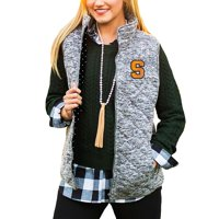Syracuse Orange Women's City Chic Quilted Vest - Heathered Gray