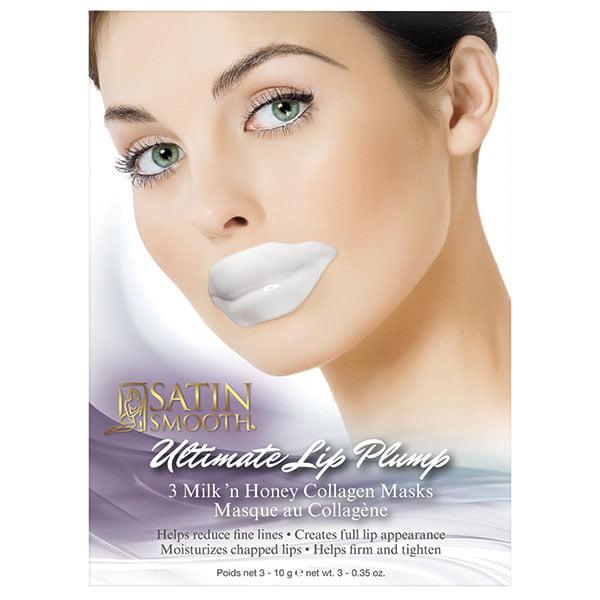 Satin Smooth Lip Plump Collagen Mask 3 Pk Ea Walmart Com Walmart Com