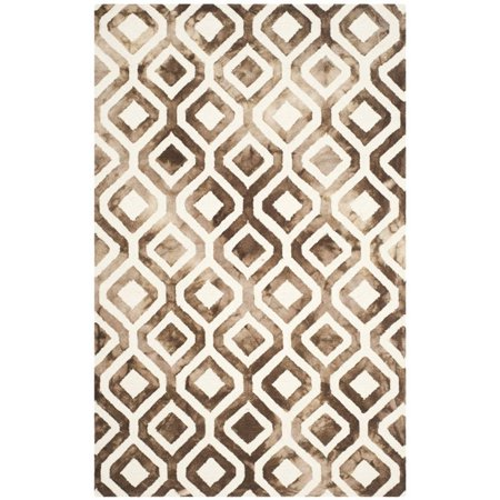 "Safavieh Dip Dye 2'3"" X 6' Hand Tufted Rug in Ivory and Chocolate - image 4 de 10"
