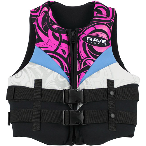 Rave Sport Women's Neo Life Vest, Small, Black