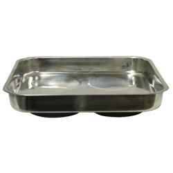 11 X 11 STAINLESS STEEL MAGNETIC PARTS TRAY