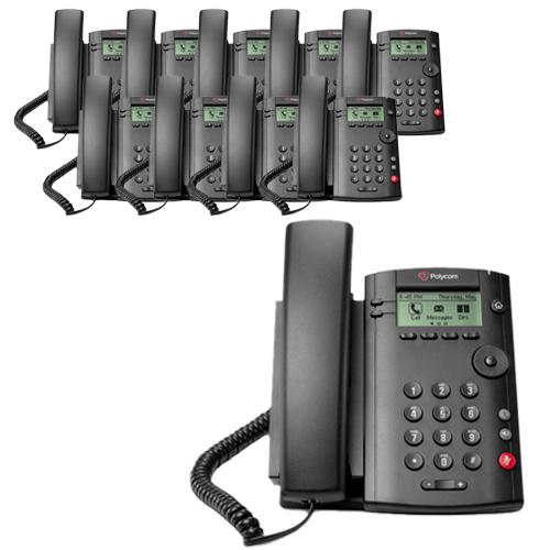 Polycom VVX 101 (2200-40250-025) (10-pack) 1-line Desktop Phone PoE by Polycom