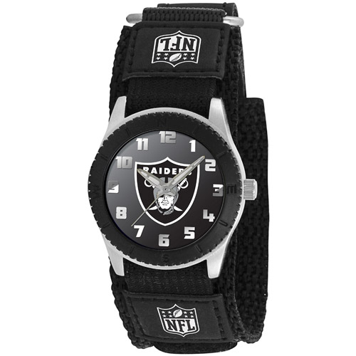 Game Time NFL Men's Oakland Raiders Rookie Series Watch, Black