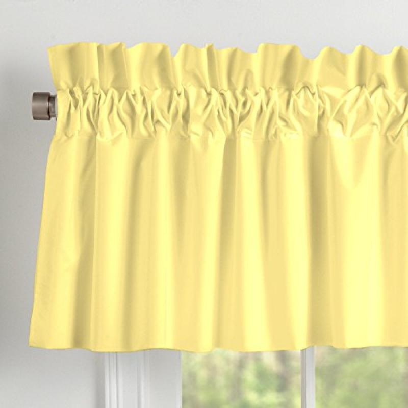Carousel Designs Solid Banana Window Valance Rod Pocket by Carousel Designs