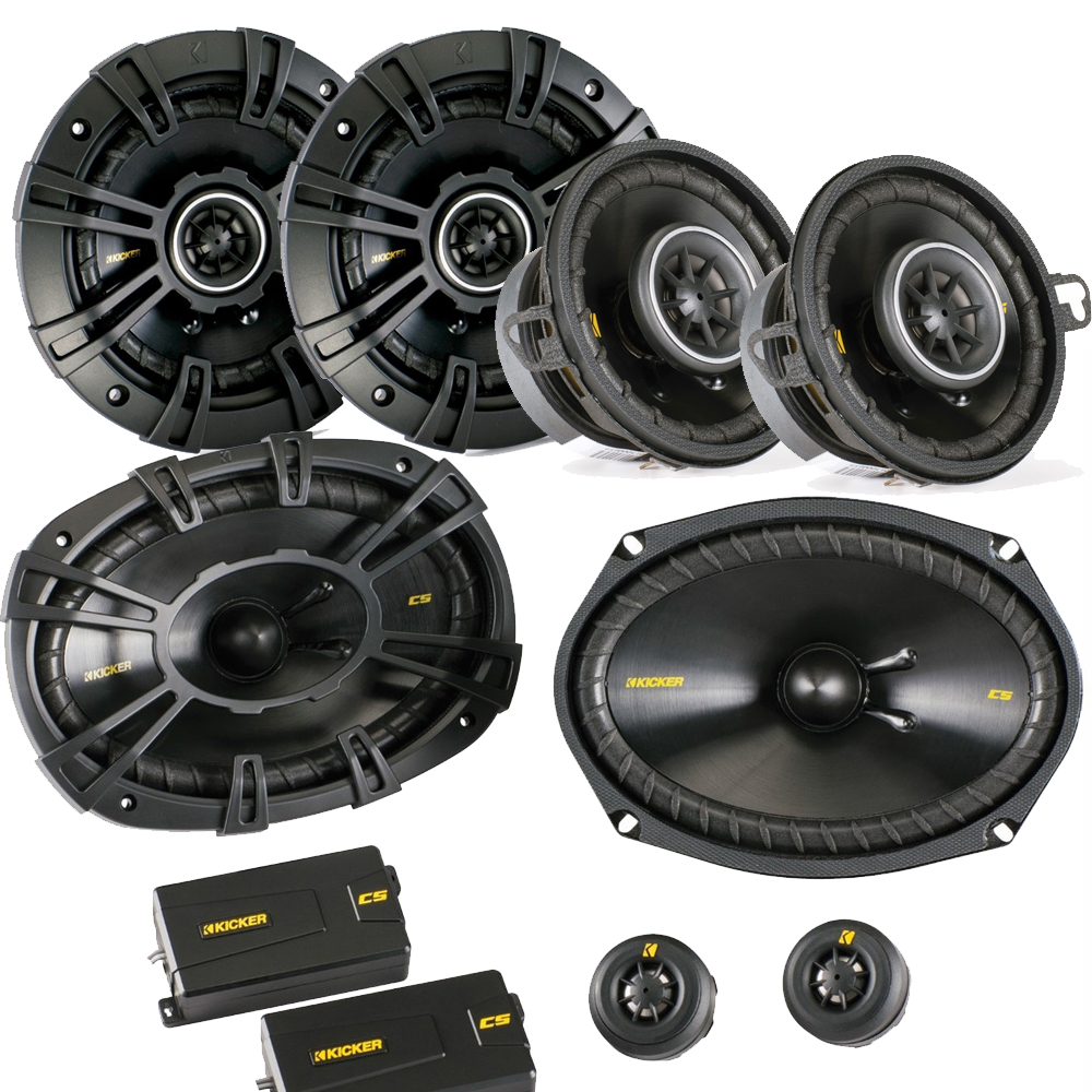 "Kicker for Dodge Ram Truck 02-11 speaker bundle- CS 6x9"" 3-way component speakers, CS 5.25"" speakers, & CS 3.5"" speakers"