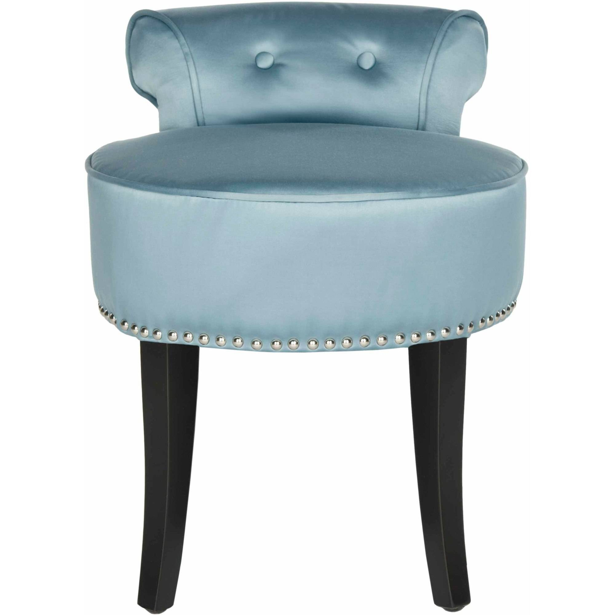 Safavieh Georgia Vanity Stool Walmartcom - Bathroom vanity chair or stool