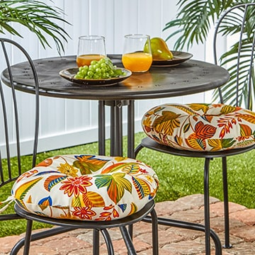 Charmant Greendale Home Fashions 15 Inch Round Outdoor Esprit Bistro Chair Cushions  (Set Of 2