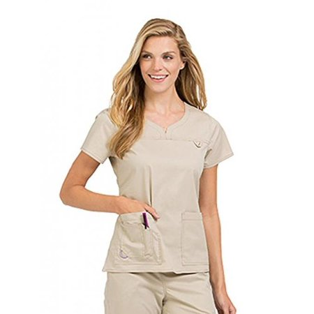 299e97c92b8 Med Couture - Med Couture Women's 'MC2' Lexi Scrub Top, Khaki, Medium -  Walmart.com