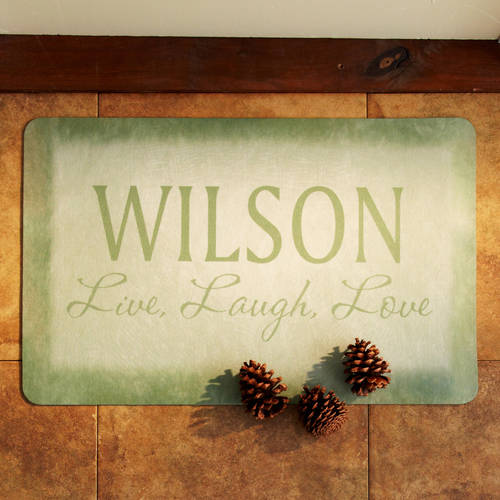 "Personalized Live, Laugh, Love Doormat 17""x27"""