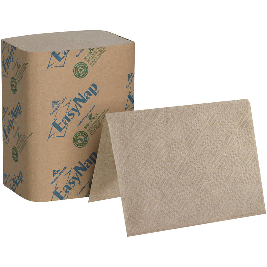 Georgia Pacific Professional EasyNap Brown Embossed Dispenser Two-Ply Napkins, 6000 count