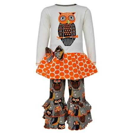 Girls Online Boutique (Ann Loren AnnLoren Girls Boutique Autumn Owl Long Sleeved Tunic and Pants)