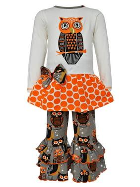 b5f3e39b876 Product Image Ann Loren AnnLoren Girls Boutique Autumn Owl Long Sleeved  Tunic and Pants Set
