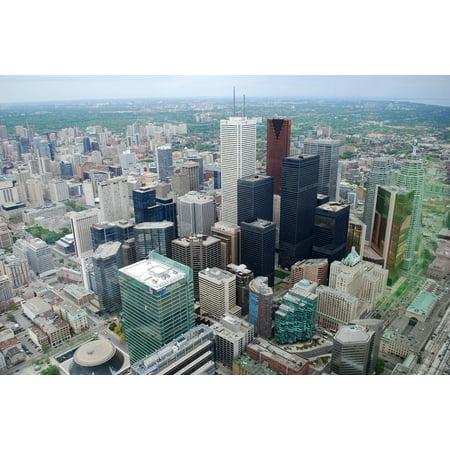 LAMINATED POSTER Skyscraper Canada City Downtown Buildings Toronto Poster Print 24 x 36](Halloween Downtown Toronto)